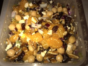 Chickpea,Cherry,Ginger Salad